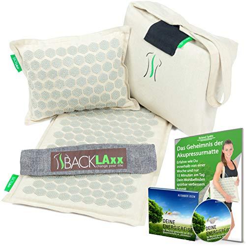 BACKLAxx Akupressurmatte Set: Entspannung für den Rücken,...