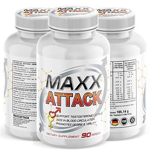 Maxx – Attack, für Männer Testosteron Booster,...