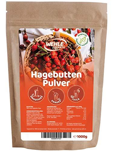 Hagebuttenpulver 1kg naturrein glutenfrei Rohkost-Qualität...