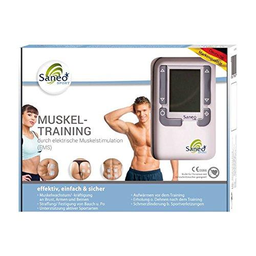 SaneoSPORT Muskeltraining * EMS Gerät * Muskelstimulator *...