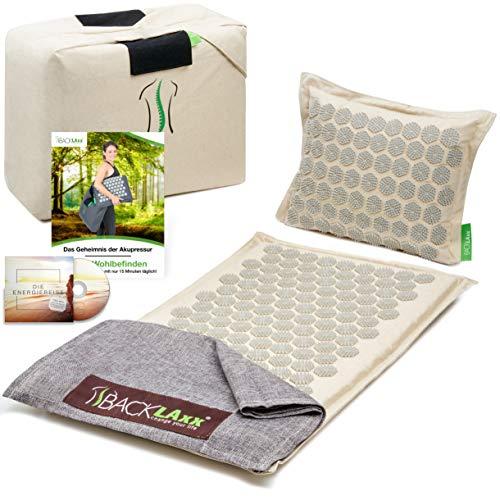 BACKLAxx ® Akupressurmatte Set - Entspannung für Rücken,...